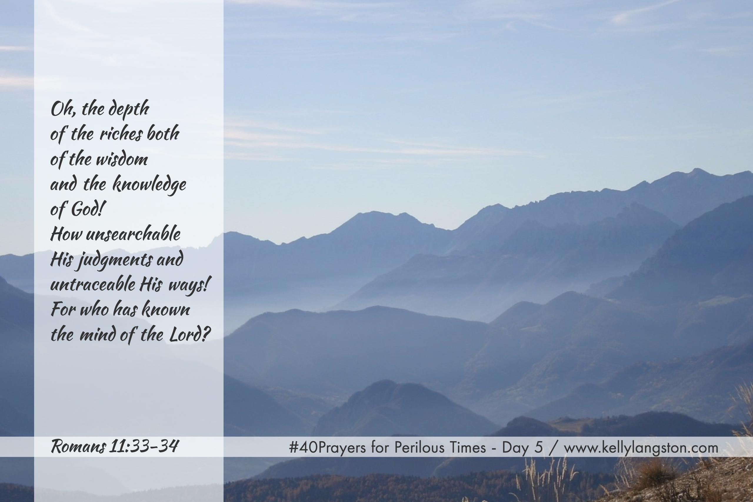 40 Prayers for Perilous Times: Day 5