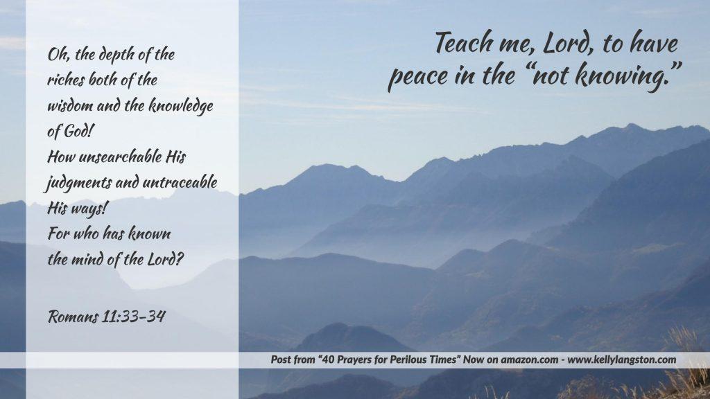 40 prayers for perilous times