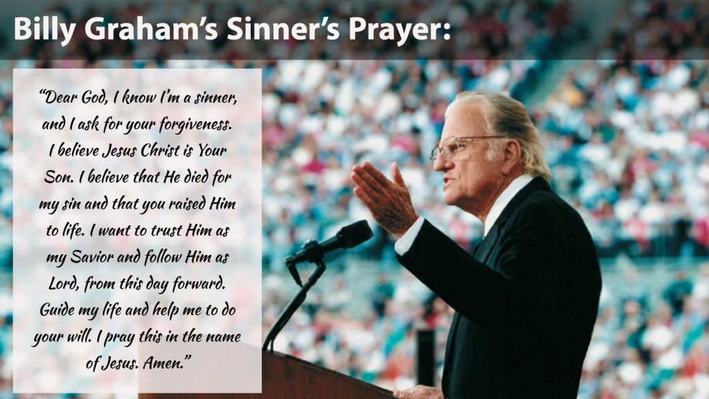 Billy Graham's Sinner's Prayer